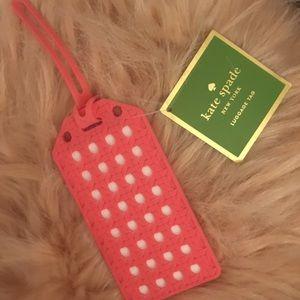 Kate Spade Pink Luggage Tag